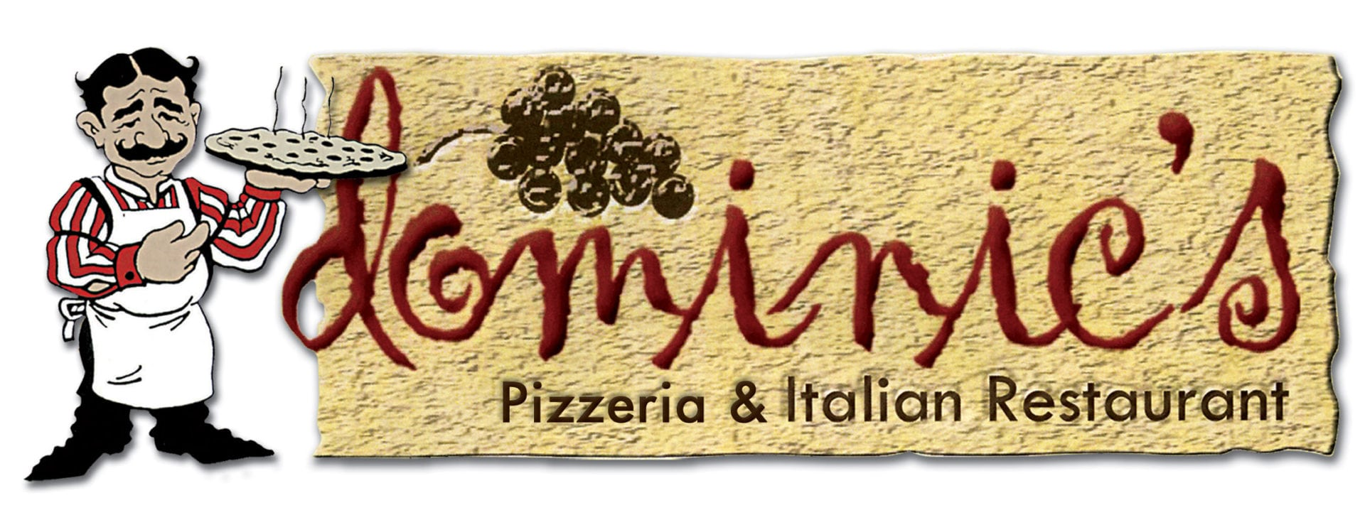 Dominic's logo with pizza guy (1)